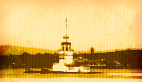 istanbul kiztorn Arkivfoto