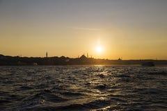 Istanbul kontur Arkivfoton