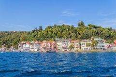 Istanbul kust- Sariyer Royaltyfri Fotografi