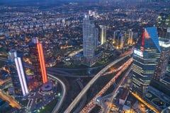 Istanbul la nuit Photographie stock libre de droits