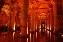 Istanbul landmark sightseeing Yerebatan cisterns. Istanbul´s medieval underground water cisterns Stock Photo