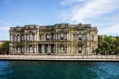 Istanbul landmark in Turkey - Dolmabahce palace. Istanbul in Turkey - Dolmabahce palace building royalty free stock photos
