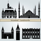 Istanbul landmarks and monuments Royalty Free Stock Photo