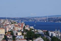 Istanbul landscape. Bospurus strait and bridge Royalty Free Stock Photography