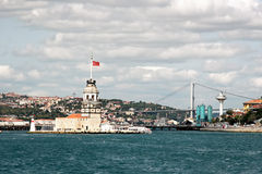 Istanbul, Leanders Tower. Historical light house building on Bosporus in Istanbul Stock Photo