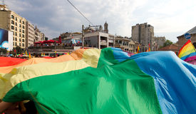 Istanbul LGBT Pride parade Royalty Free Stock Photo
