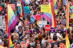 Istanbul LGBT Pride parade Stock Image