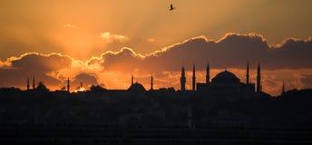 istanbul liggande Fotografering för Bildbyråer