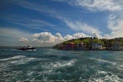 Istanbul liten port, Bosporus-Turkiet Arkivbild