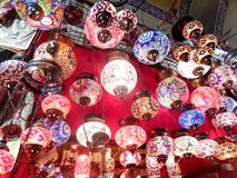 Istanbul ljuskronor Arkivbilder