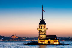 Istanbul Maiden's Tower Royalty Free Stock Images