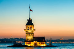 Istanbul Maiden's Tower Stock Images