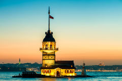 Istanbul Maiden's Tower Royalty Free Stock Photography