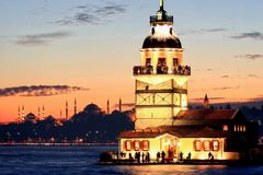 Istanbul Maiden Tower Stock Images