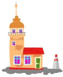 Istanbul maiden tower. Isolated istanbul maiden tower with vector style Royalty Free Stock Photography