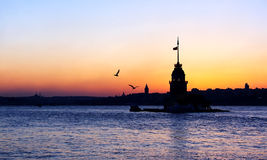 Istanbul Maiden Tower royalty free stock photo