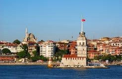 istanbul maiden tower Arkivbilder