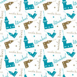 Seamless istanbul maiden tower pattern and background vector illustration Royalty Free Stock Images
