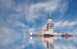 Istanbul Maiden Tower Stock Image