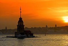 Istanbul Maiden Tower Royalty Free Stock Image