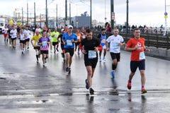 38 Istanbul maraton Arkivfoton