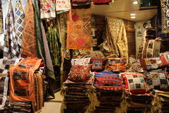 Istanbul - March 12, 2016: The Grand Bazaar, considered to be the oldest shopping mall in history with over 1200 jewelry,carpet, l Royalty Free Stock Photo