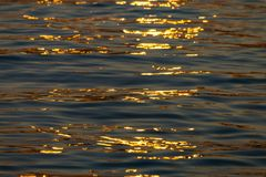 Calm Sea wave sunset view blue water ocean. Istanbul marmara sea, sunset on the islands royalty free stock photography