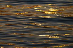 Calm Sea wave sunset view blue water ocean. Istanbul marmara sea, sunset on the islands stock images