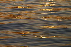 Calm Sea wave sunset view blue water ocean. Istanbul marmara sea, sunset on the islands royalty free stock photo
