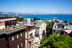 Istanbul Marmara Sea view from hotel Stock Photo