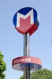 istanbul metra znak Zdjęcia Stock