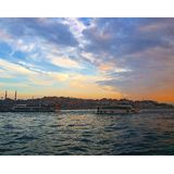 Istanbul city spring time sunset  Stock Photography