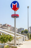 Istanbul Metropolitan: stations and subway trains. Turkey. Stock Photography