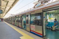 Istanbul Metropolitan: stations and subway trains. Turkey. Royalty Free Stock Images