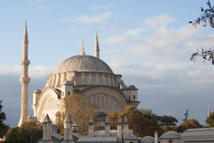 istanbul moskékalkon Arkivbild