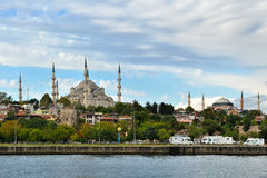 Istanbul - mosque and bosphorus Stock Images