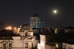 Istanbul nachts stockbild