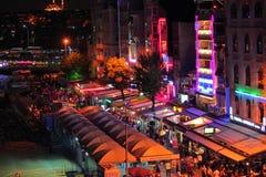 istanbul natt Fotografering för Bildbyråer