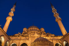 Istanbul New Mosque by night Stock Photos