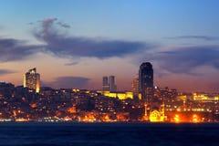 Istanbul night. Kabatas - Dolmabahce region in night Royalty Free Stock Photo