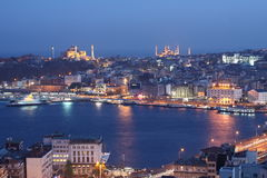Istanbul at Night Royalty Free Stock Photos