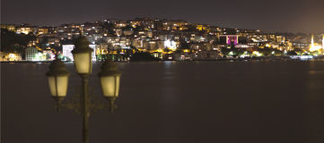 Istanbul in the night Royalty Free Stock Image