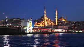 An Istanbul night in blue stock video
