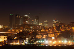 Istanbul night city Royalty Free Stock Photos