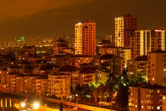 Istanbul by night royalty free stock photography