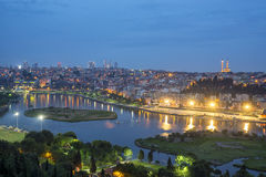 Istanbul by night royalty free stock image