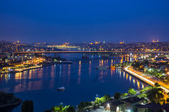 Istanbul by night. Panorama of Istanbul in the night Stock Photography