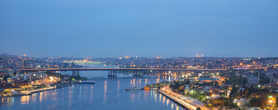 Istanbul by night stock images