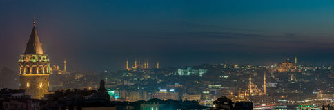 Istanbul by Night Stock Photo