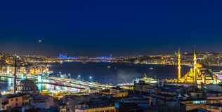 Istanbul at night Stock Images
